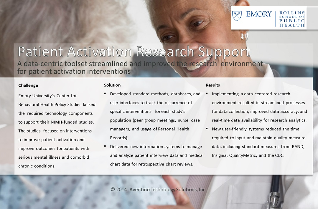 Case Study for Patient Activation Research