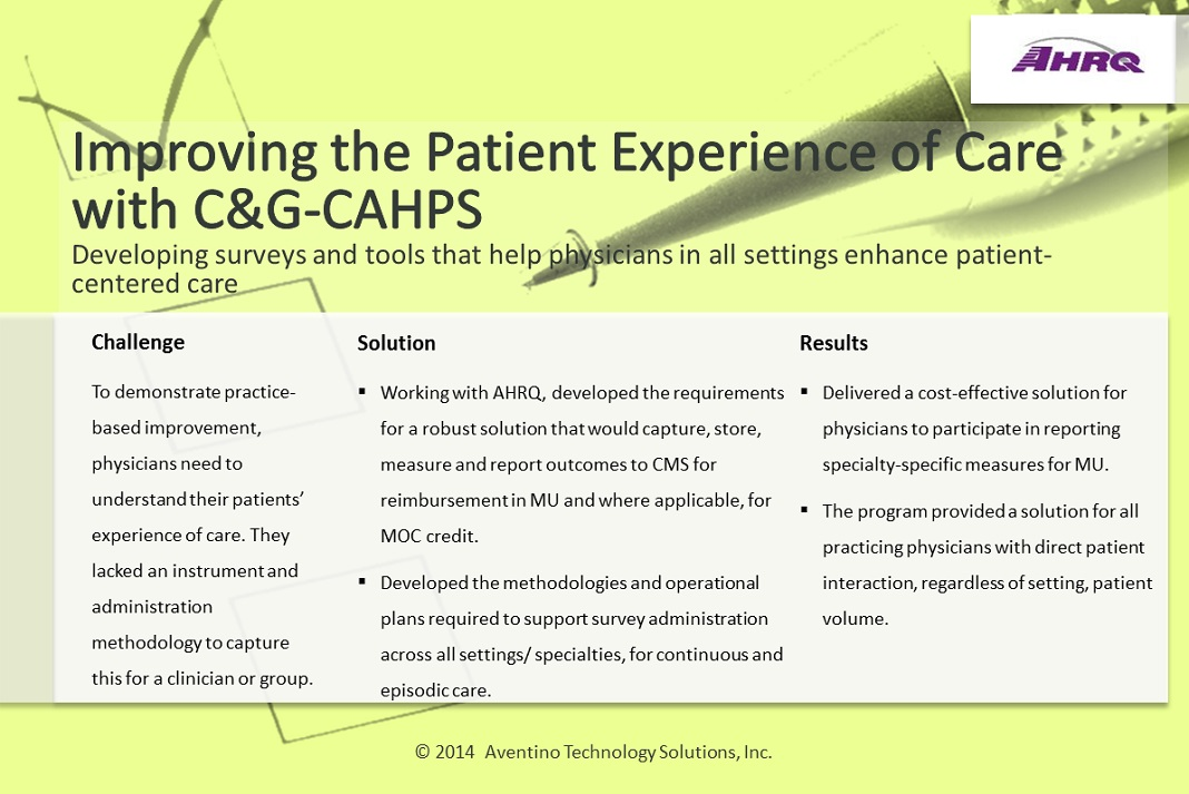 Case Study for Improve Patient Experience of Care